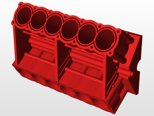 V12 engine block | 3D CAD Model Library | GrabCAD