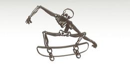skateboarding + skull