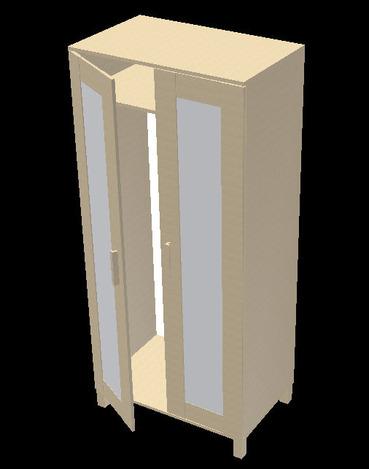 ikea aneboda wardrobe autodesk inventor step iges. Black Bedroom Furniture Sets. Home Design Ideas