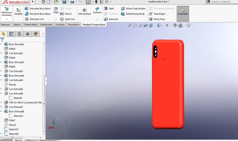 Mobile MI note 5 pro | 3D CAD Model Library | GrabCAD