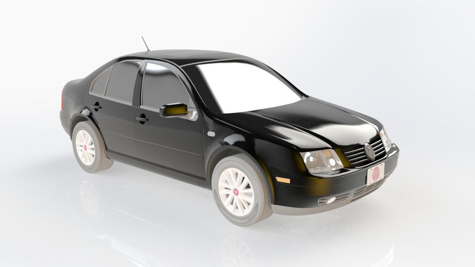 Volkswagen Jetta 3d Cad Model Library Grabcad