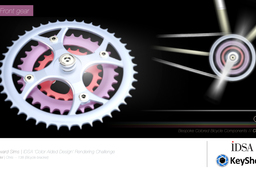 IDSA Colour aided design rendering challenge | Bespoke bicycle components