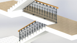 SOLIDWORKS, handrail - Most downloaded models | 3D CAD Model