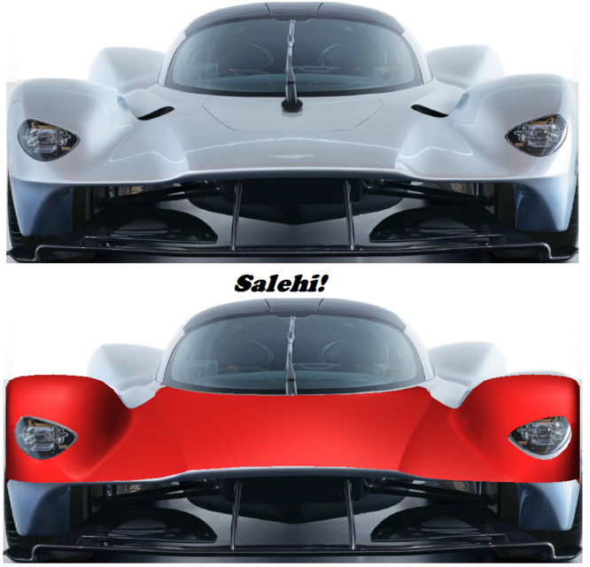 Aston Martin Red Bull Valkyrie 3d Cad Model Library Grabcad