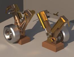 Twin oscillating steam engine