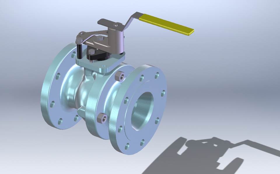 4 Quot Class 150 Flanged Ball Valve 3d Cad Model Library