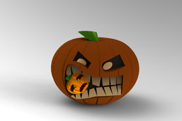 Crazy halloween pumpkin