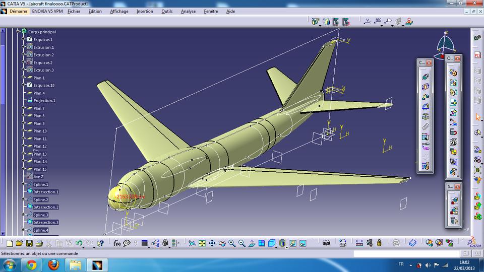Avion 3d Cad Model Library Grabcad