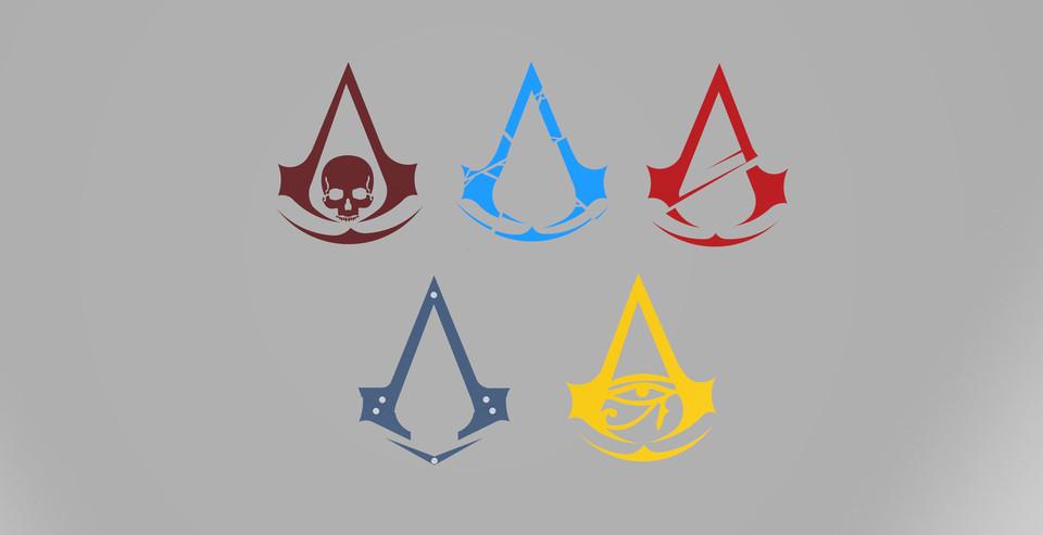 Assassin S Creed Logo 3d Cad Model Library Grabcad