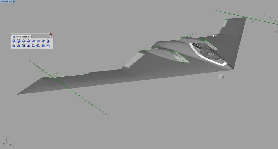 Hasil gambar untuk autocad flying wing