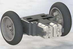 Tamiya Twin motor Gearbox with Axle and Wheels