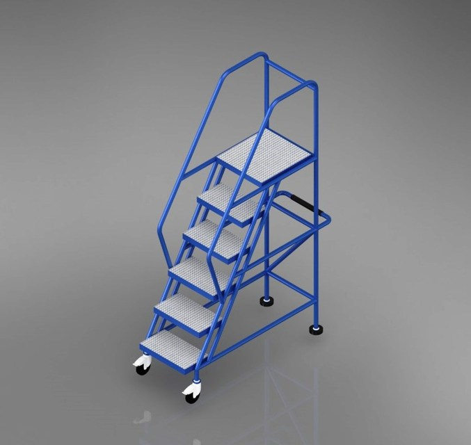 Ladder Mobile Platform | 3D CAD Model Library | GrabCAD