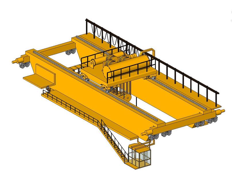 Eot Electric Overhead Traveling Crane 3d Cad Model Library Grabcad