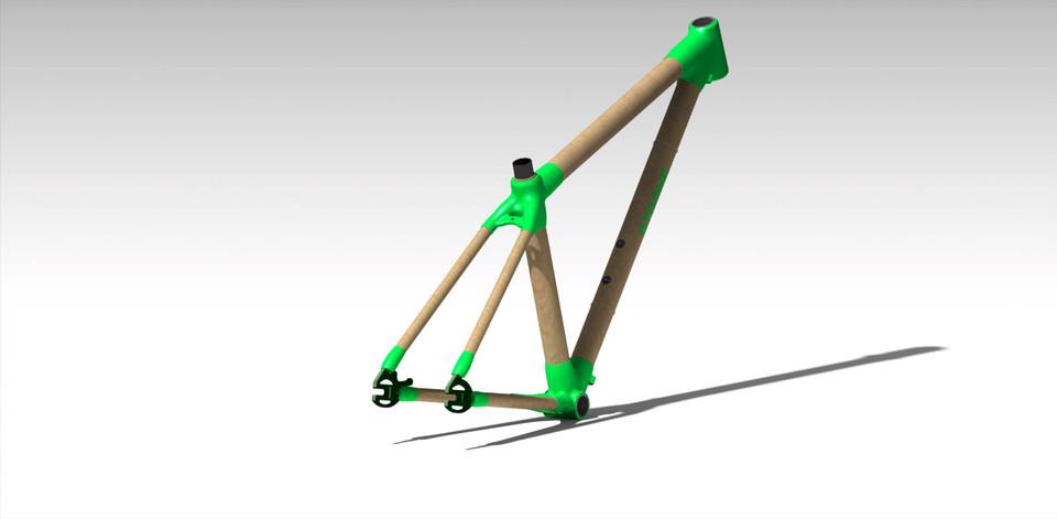 Bamboo Bike Frame | 3D CAD Model Library | GrabCAD