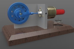 Stirling Engine (ZW3D)