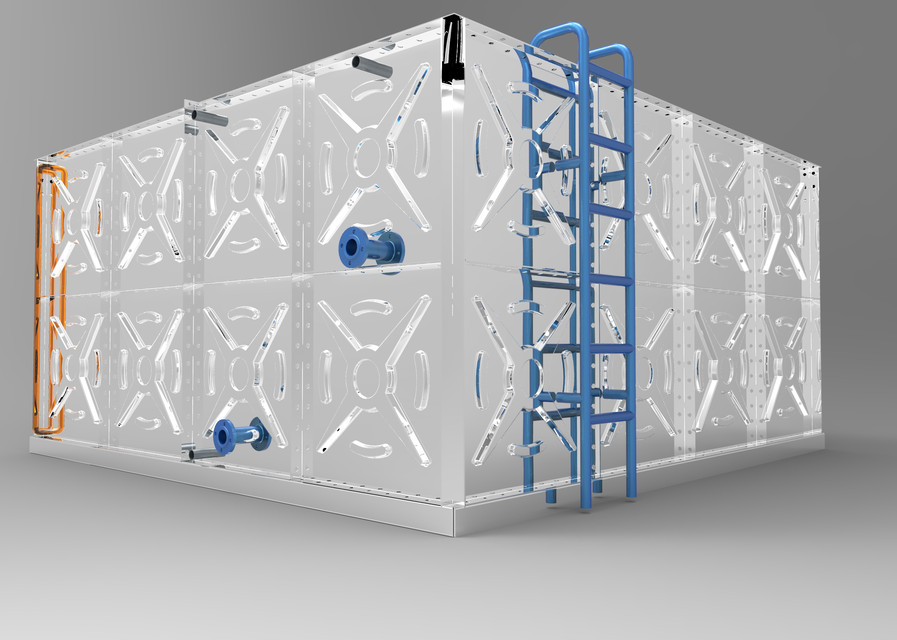 Modular water tank | 3D CAD Model Library | GrabCAD