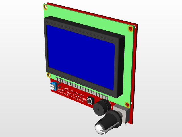 LCD Full Graphic Smart Controller | 3D CAD Model Library | GrabCAD
