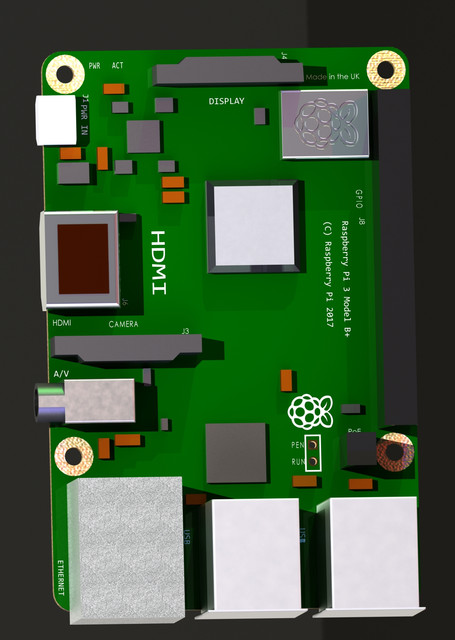 Raspberry Pi 3 Model B+ | 3D CAD Model Library | GrabCAD