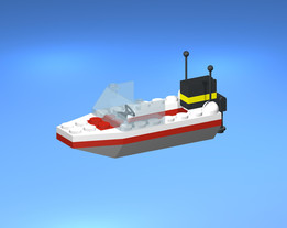 Lego Model 1632 Speed Boat