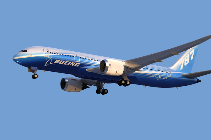 boeing 787 - more detailed  - render tests