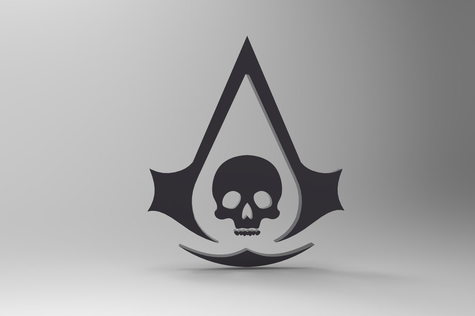 Assassin S Creed Black Flag Key Chain 3d Cad Model Library Grabcad
