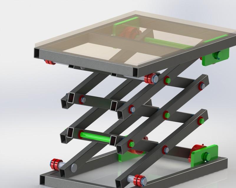 Scissor bike lift   3D CAD Model Library   GrabCAD