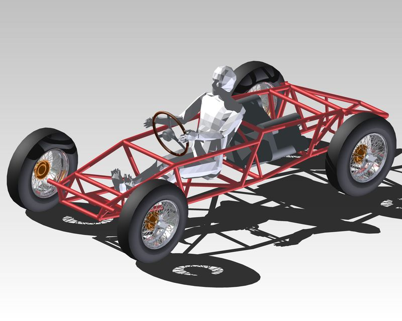 Ferrari frame Typ 543 1960 | 3D CAD Model Library | GrabCAD