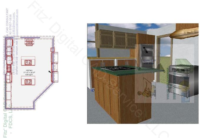 Preliminary Kitchen Layout and Framing