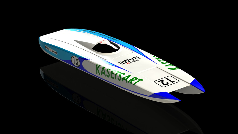 Catamaran Offshore Racing Boat (RC Model) | 3D CAD Model Library