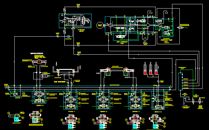 This is the circuit diagram for the Hydraulic Valve Assembly I uploaded | 3D CAD Model Library | GrabCAD