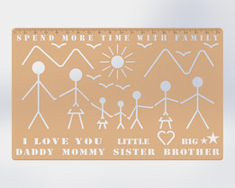 Family Time Stencil