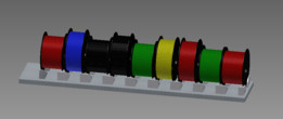 Filament spool support
