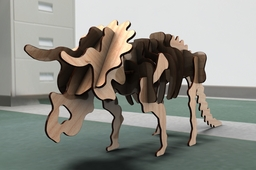 Triceratops Wood Craft