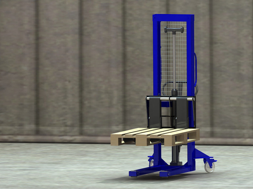 Manual Pallet Stacker | 3D CAD Model Library | GrabCAD