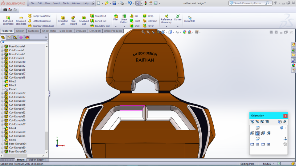 Sports Car Seat Design 3d Cad Model Library Grabcad