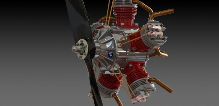6 Piston Rotary Engine Solidworks 3d Cad Model Grabcad