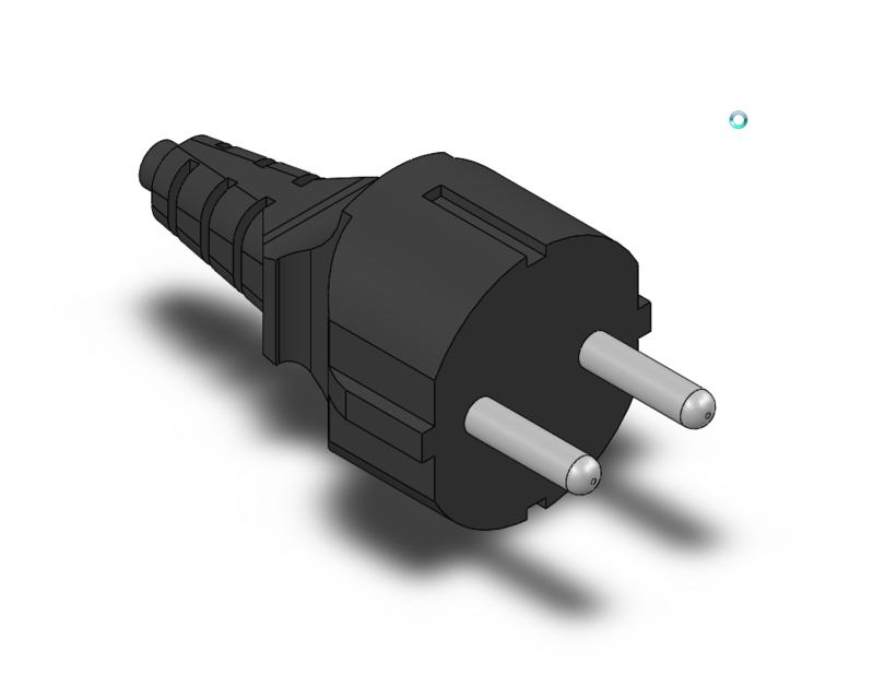European AC power plug | 3D CAD Model Library | GrabCAD