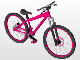 Full  Ladies Bike with assembly file
