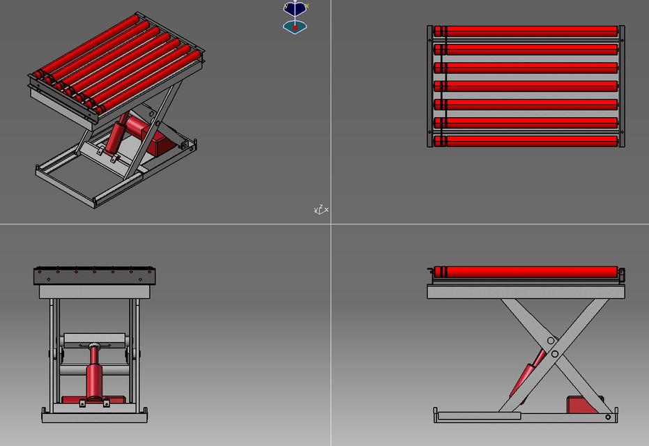 Elec hydraulic scissor lift | 3D CAD Model Library | GrabCAD