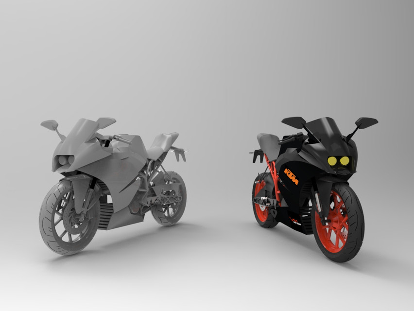 KTM RC series (motorcycle) | 3D CAD Model Library | GrabCAD
