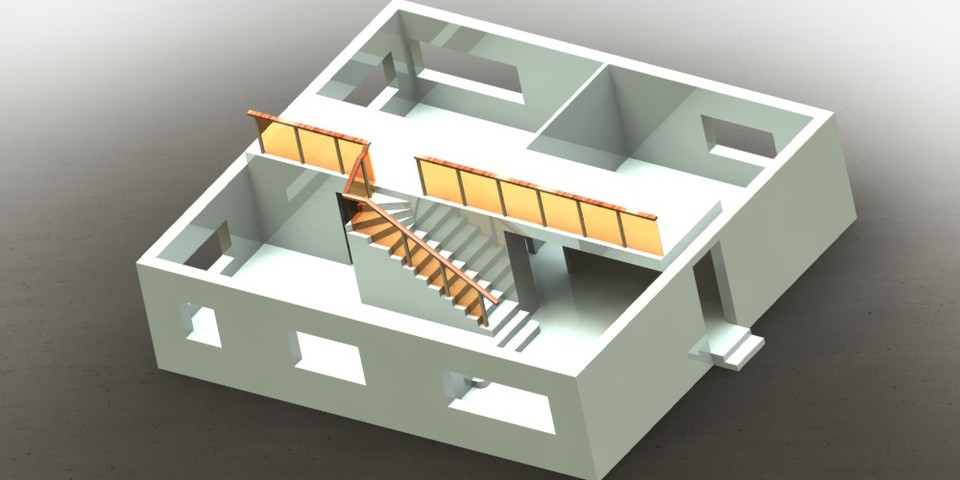 House 3d Cad Model Library Grabcad