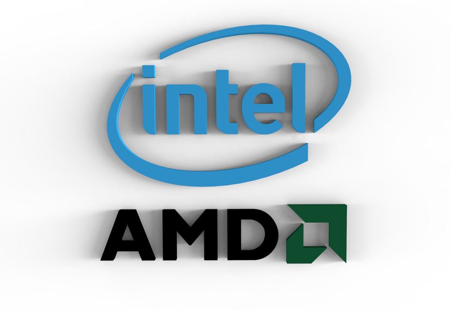 Intel And Amd Logo 3d Cad Model Library Grabcad