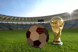 Wooden soccer ball