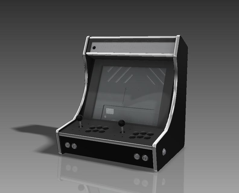 Bartop Arcade Machine 3d Cad Model Library Grabcad