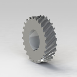Helical gear with involute teeth