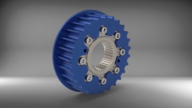 FRONT TRASMISSION PULLEY BUELL   3D CAD Model Library   GrabCAD