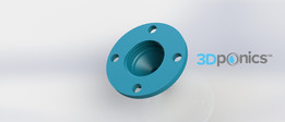 Drip Nozzle (3/8 inch, 4 hole) - 3Dponics Drip Hydroponics System