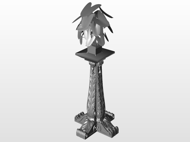 FLOWER STAND 4 ROSİE | 3D CAD Model Library | GrabCAD