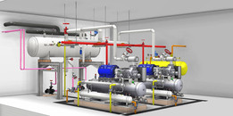 Engine room for refrigerating plant