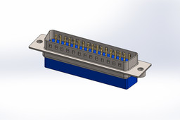 D_sub 50pin, Crimp - SOLIDWORKS\STEP